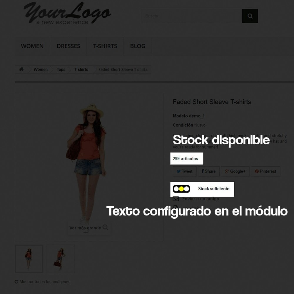 module - Informaciones adicionales y Pestañas - Indicador de stock disponible en ficha de producto - 5