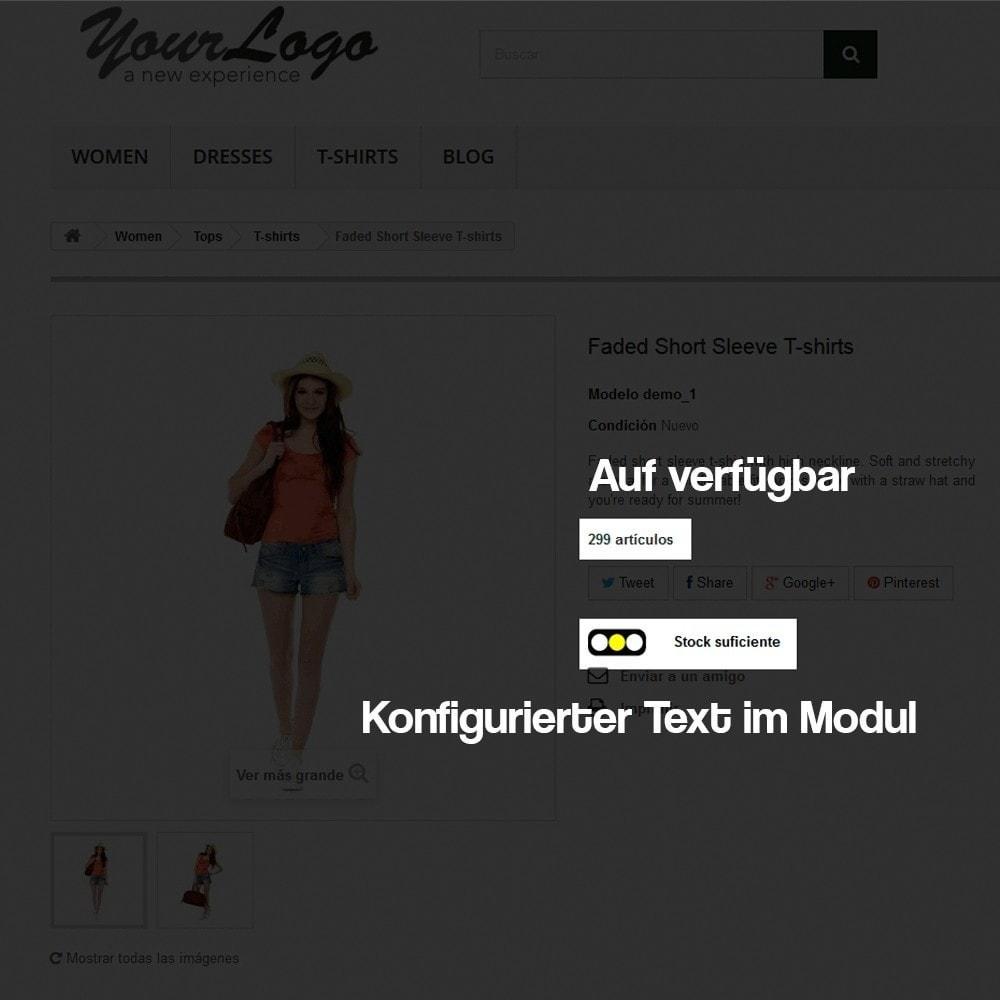 module - Zusatzinformationen & Produkt-Tabs - Anzeige des Warenbestandes auf der Produktseite - 5
