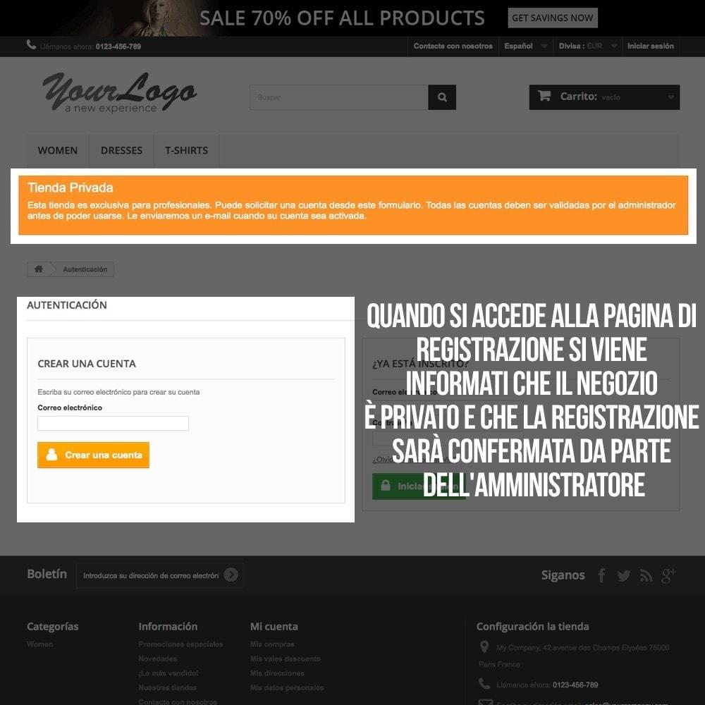 pack - B2B - Pack 1 - Negozio Prestashop B2B (privatizzazione) - 15