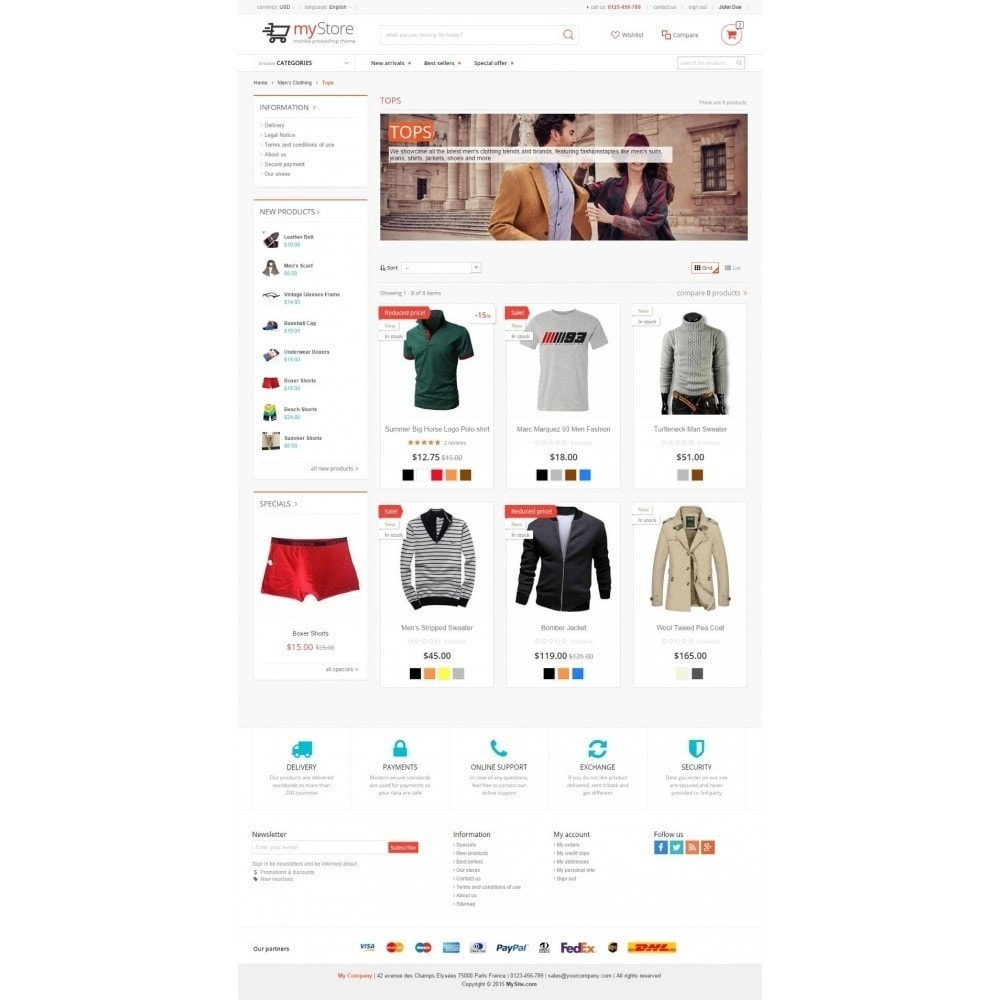 theme - Moda & Calzature - myStore Monika - 2