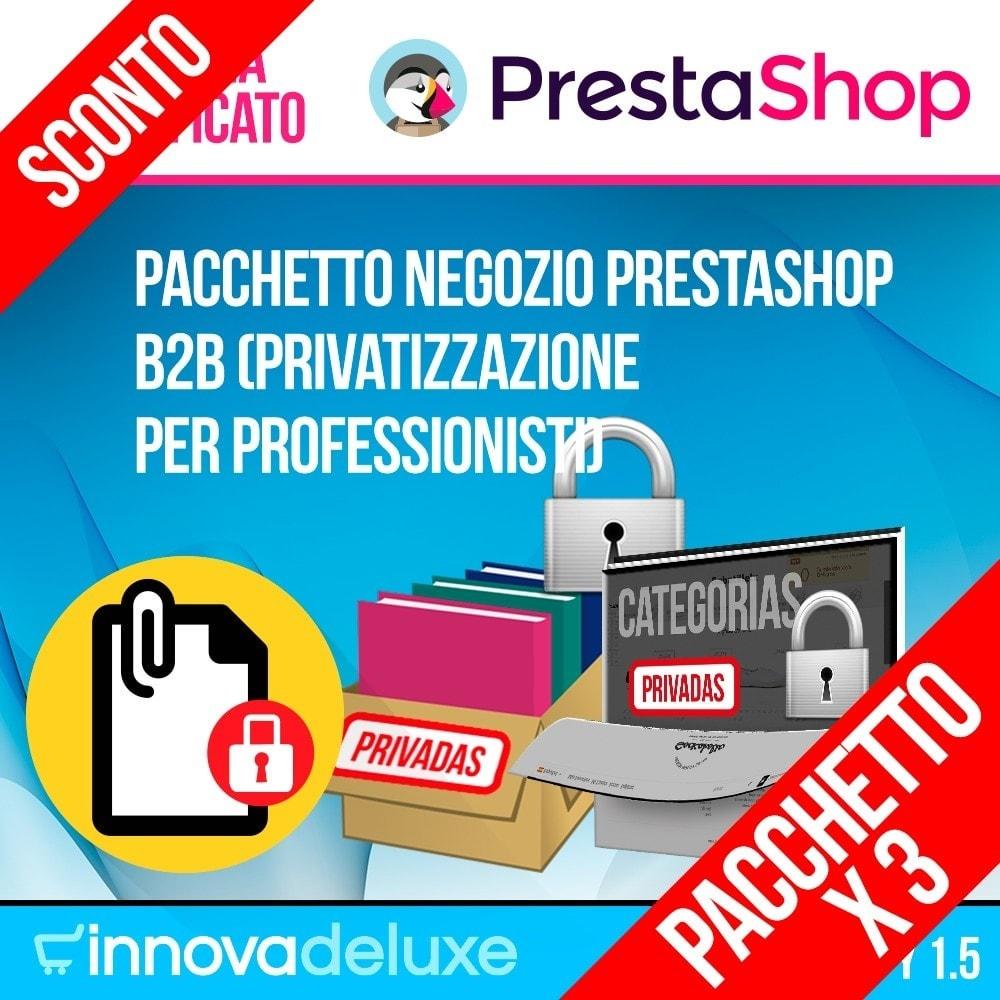 pack - B2B - Pack 2 - Negozio Prestashop B2B (privatizzazione) - 1