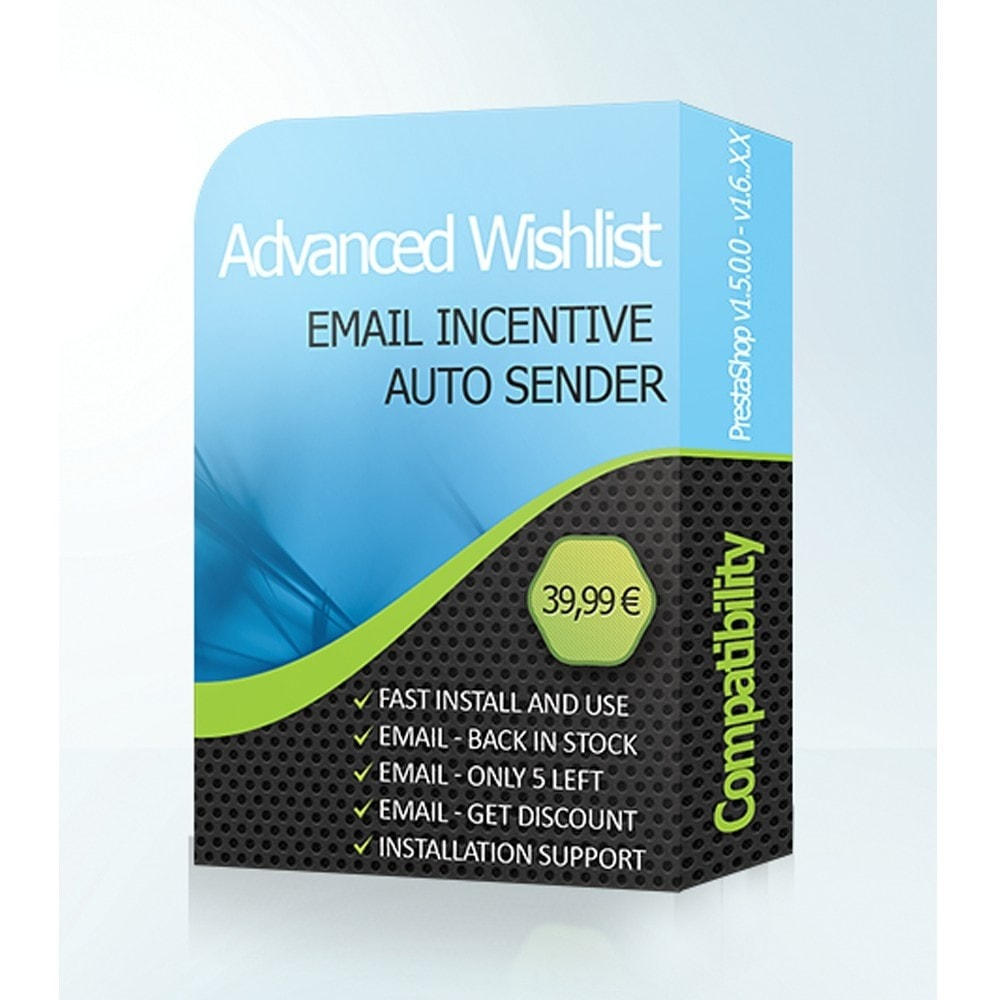 module - Verlanglijst & Cadeaubon - Advanced Wishlist & Auto Email Marketing - 1
