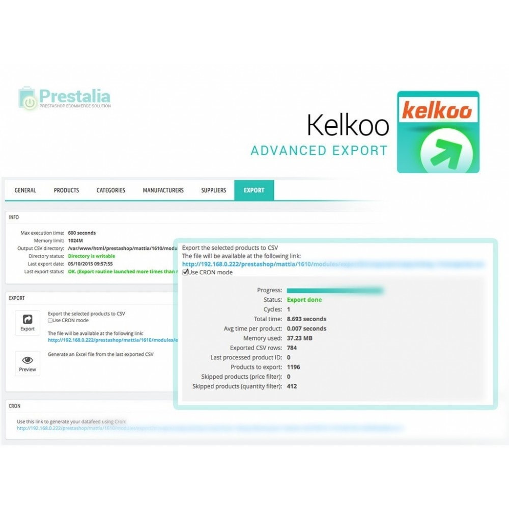 module - Comparadores de Precios - Kelkoo - Export + Advanced Filters - 6