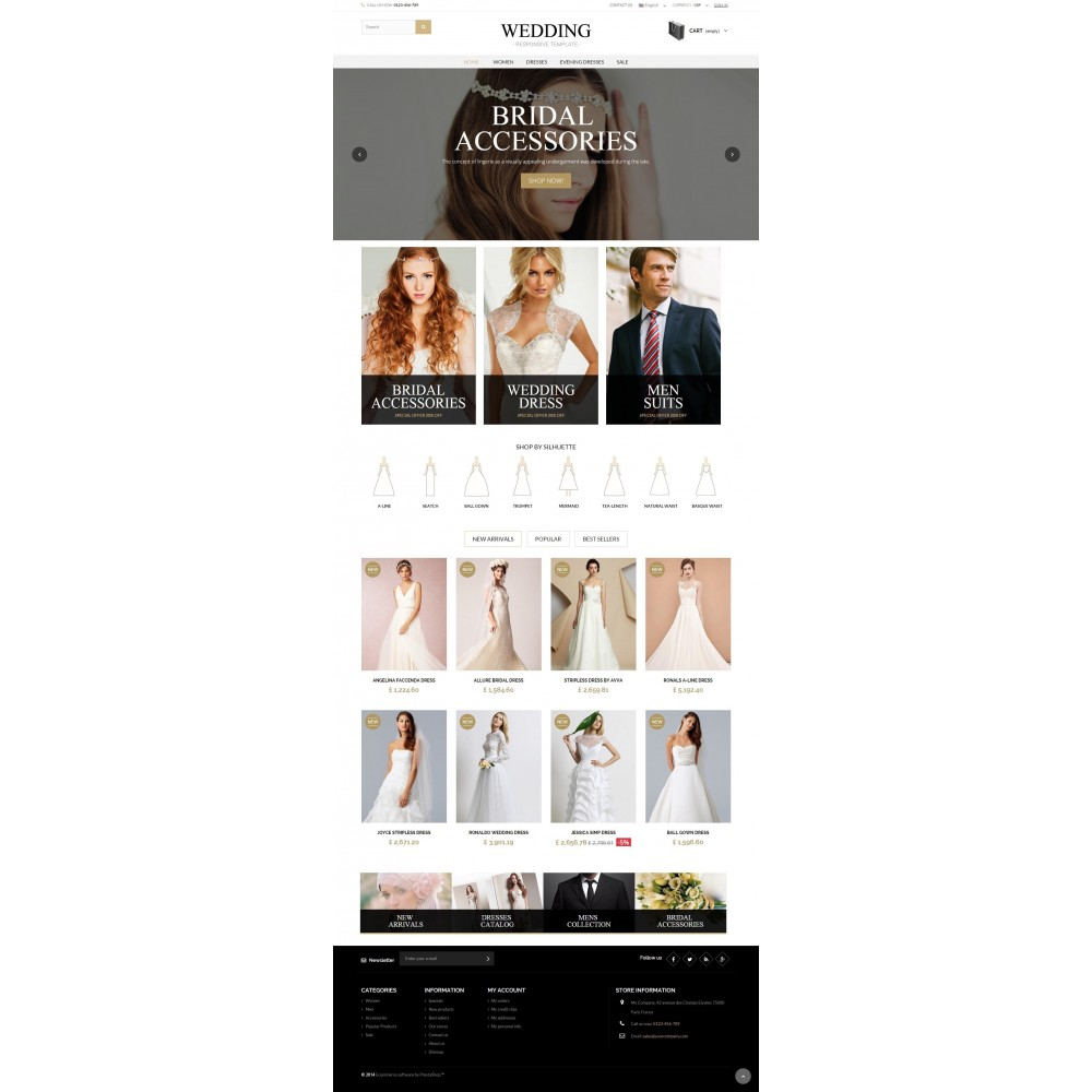theme - Mode & Schuhe - WEDDING STORE 1.6 Responsive Template - 2