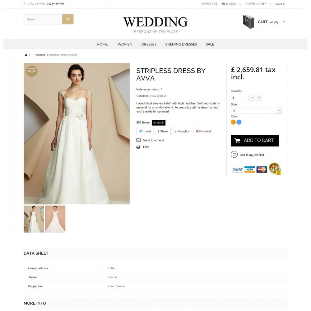 theme - Mode & Schuhe - WEDDING STORE 1.6 Responsive Template - 4