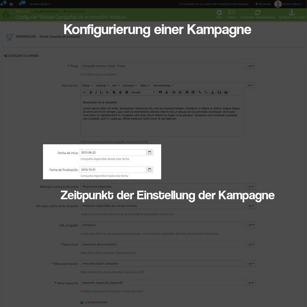 module - Promotion & Geschenke - Verwaltung von Kampagnen (Saisonale Vorschau, Looks) - 5