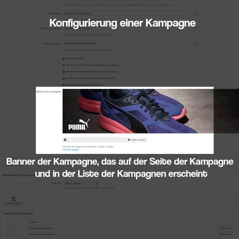 module - Promotion & Geschenke - Verwaltung von Kampagnen (Saisonale Vorschau, Looks) - 9