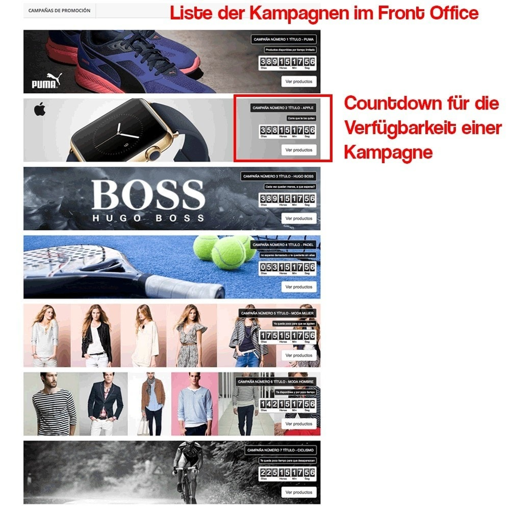 module - Promotion & Geschenke - Verwaltung von Kampagnen (Saisonale Vorschau, Looks) - 12