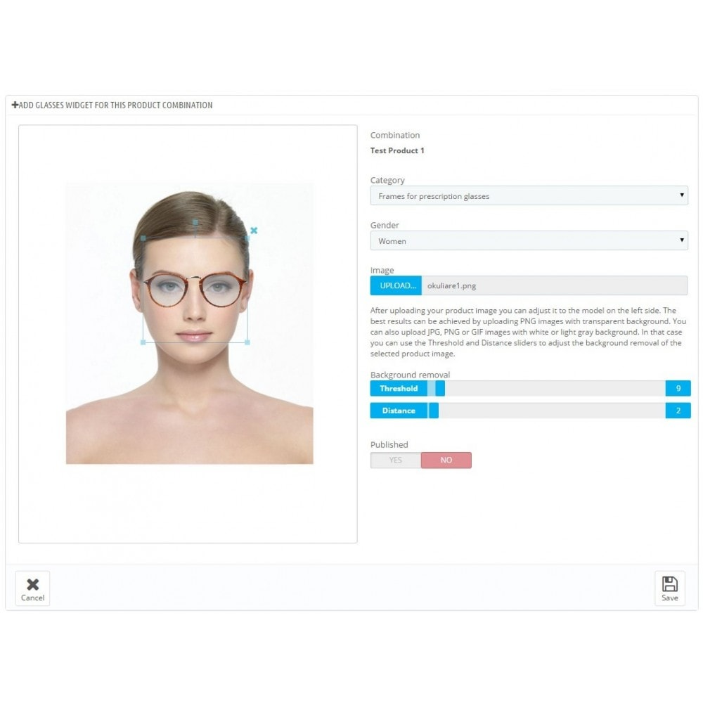 module - Virtuele producten - Magic Mirror: Makeup, Optics & Fashion - 10