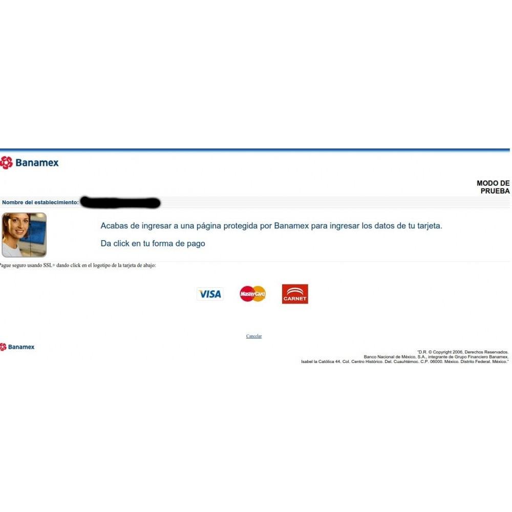 module - Pago con Tarjeta o Carteras digitales - Pasarela de pago TNS Payments / BANAMEX - 1
