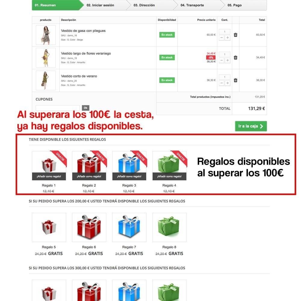 module - Promociones y Regalos - Regalos en la cesta para incrementar valor del pedido - 11