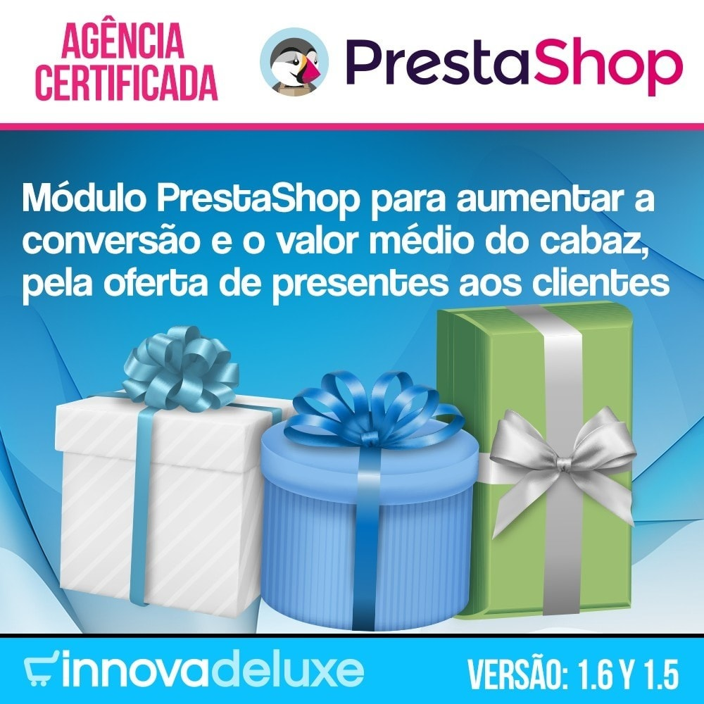 module - Promoções & Brindes - Gifts in shopping carts to increase order price - 1