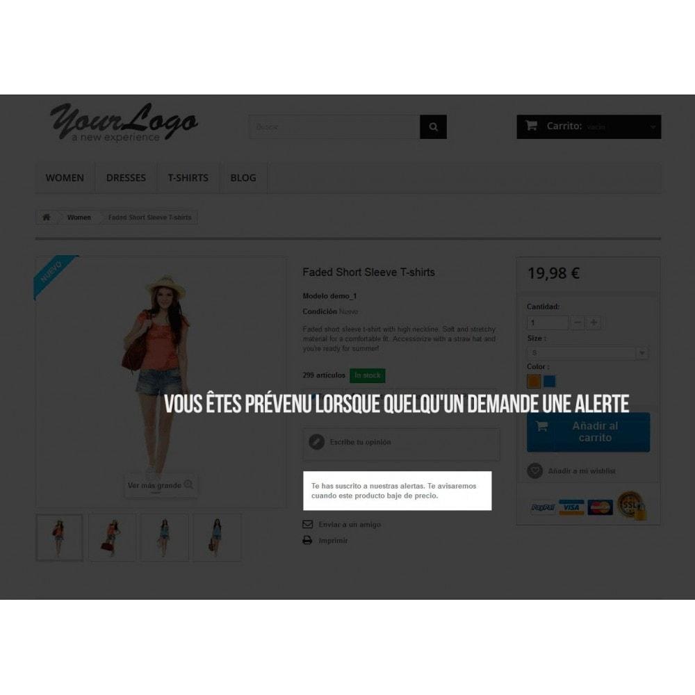 module - E-mails & Notifications - Alerte pour abonnement aux baisses de prix - 3