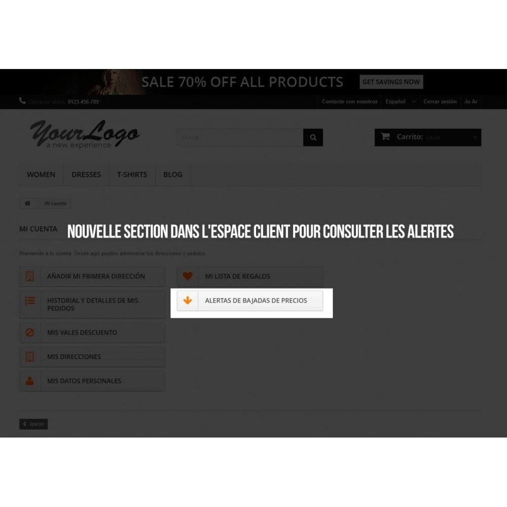module - E-mails & Notifications - Alerte pour abonnement aux baisses de prix - 5