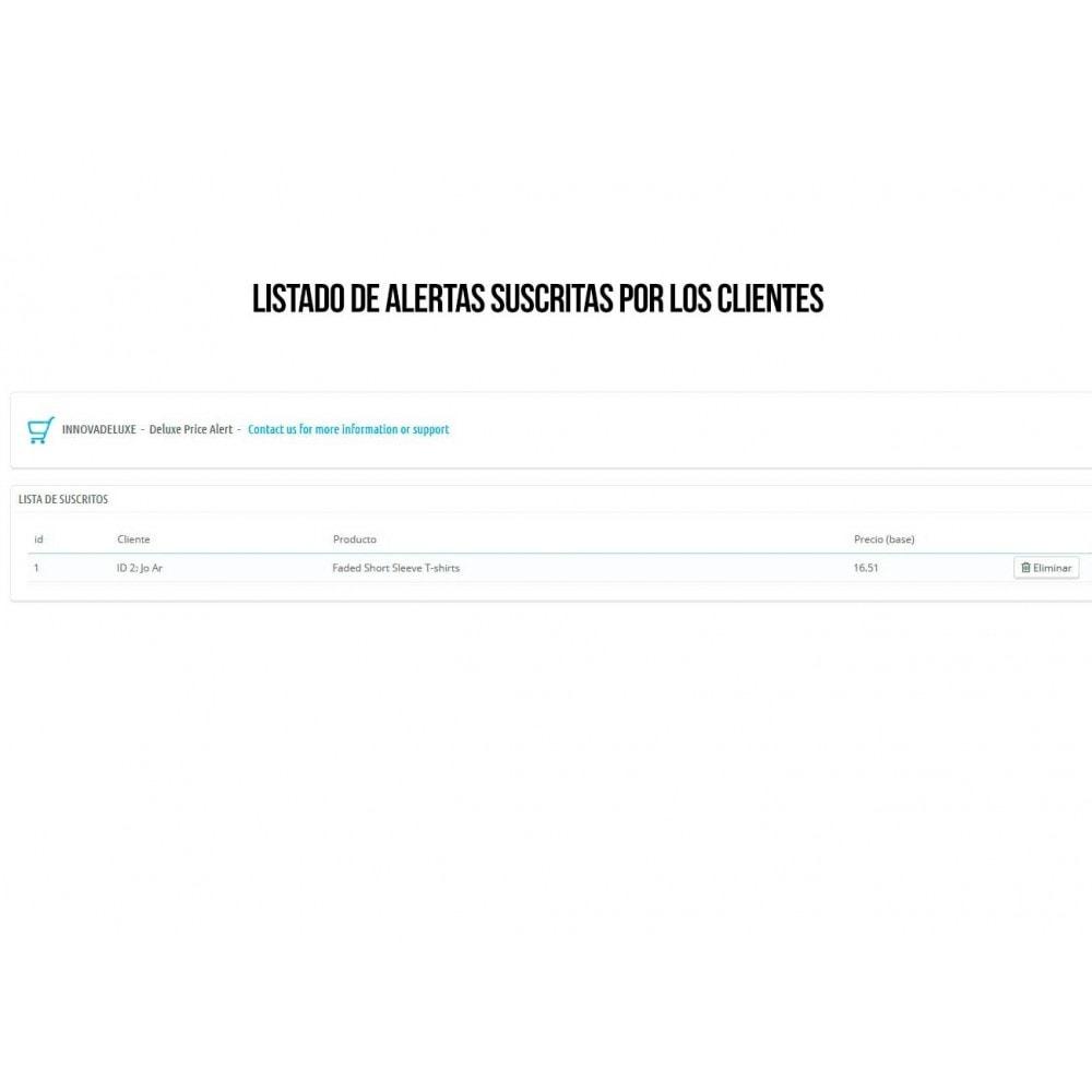 module - E-mails y Notificaciones - Alerta para suscripción a bajadas de precio - 4