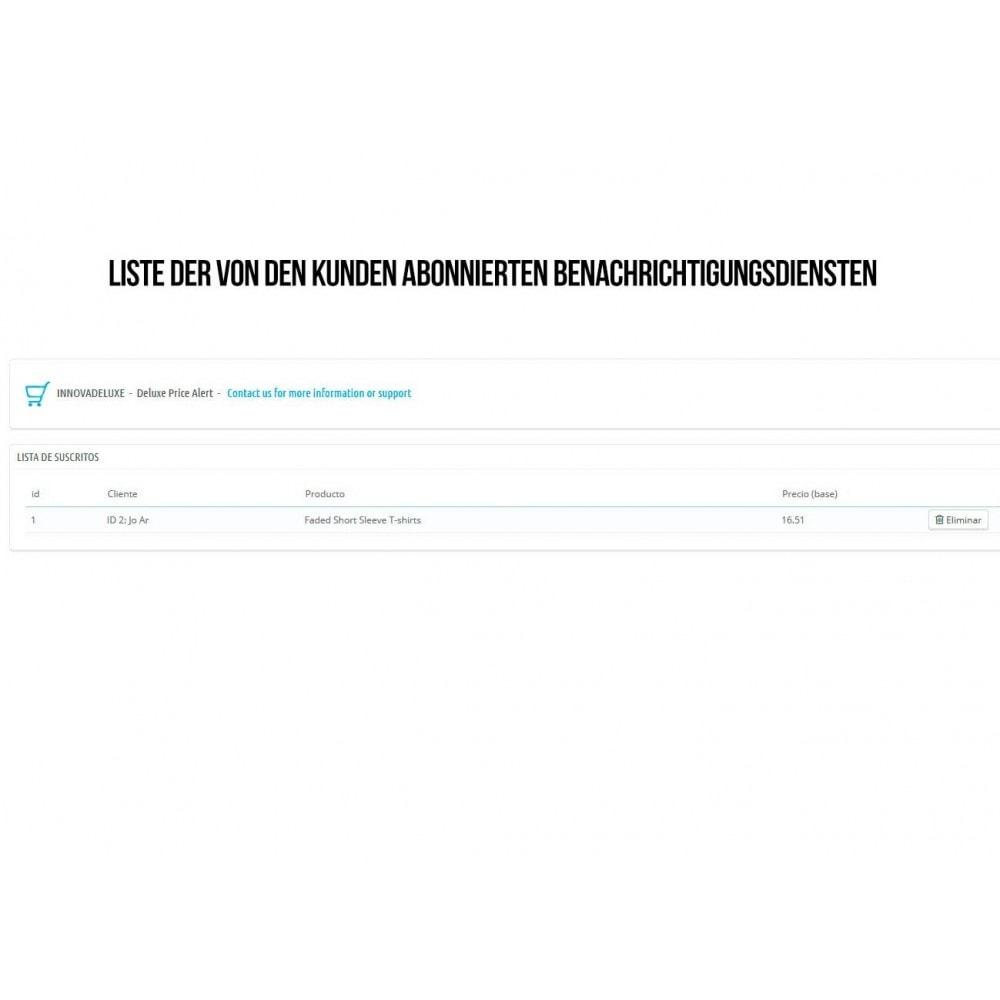 module - E-Mails & Benachrichtigungen - Alarm beim Abonnieren der Funktion Preissenkung - 4