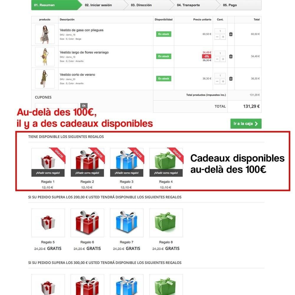 module - Promotions & Cadeaux - Panier cadeau (augmentation de valeur de la commande) - 11
