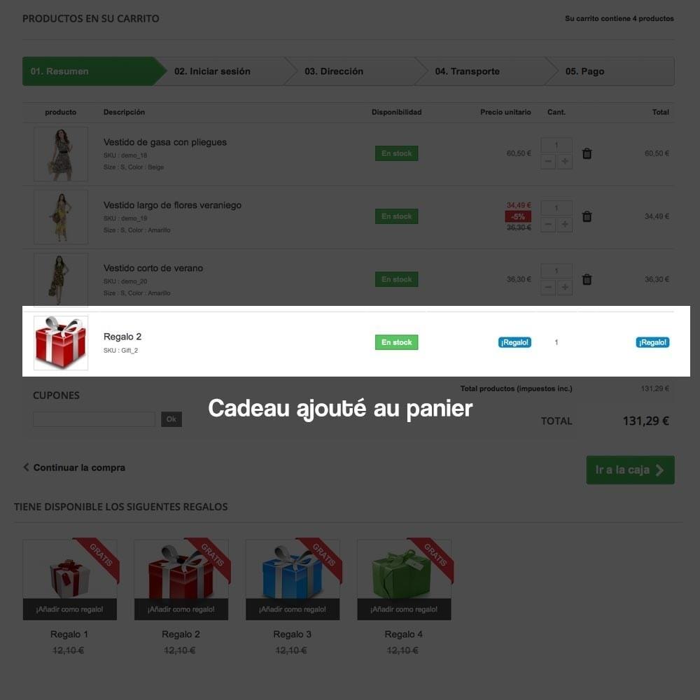 module - Promotions & Cadeaux - Panier cadeau (augmentation de valeur de la commande) - 12