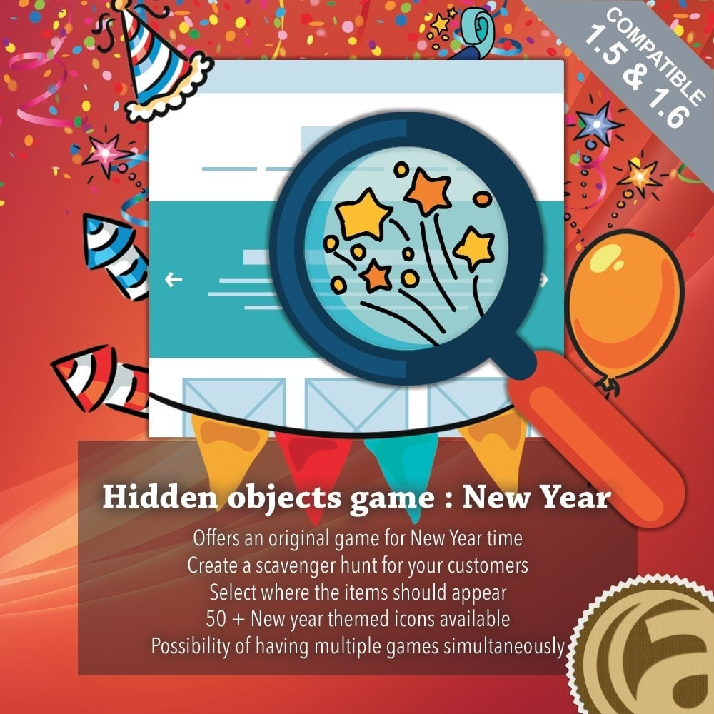 module - Wedstrijden - Hidden objects game : New Year - 1