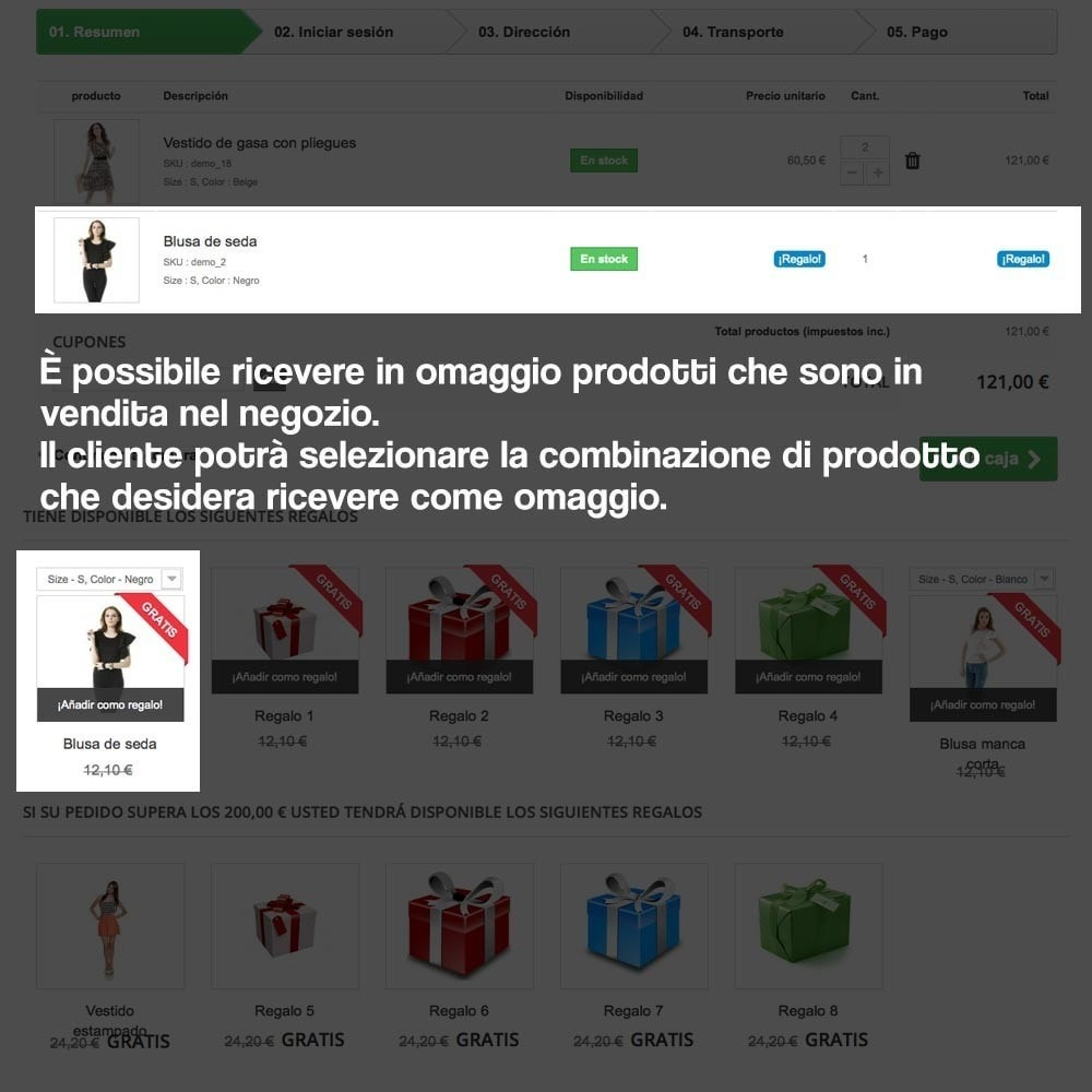 module - Promozioni & Regali - Gifts in shopping carts to increase order price - 15
