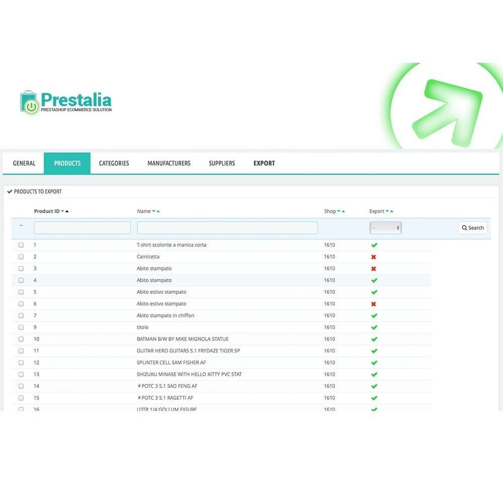 module - Import & Export de données - Exportation TrovaPrezzi avec filtres avancés - 4