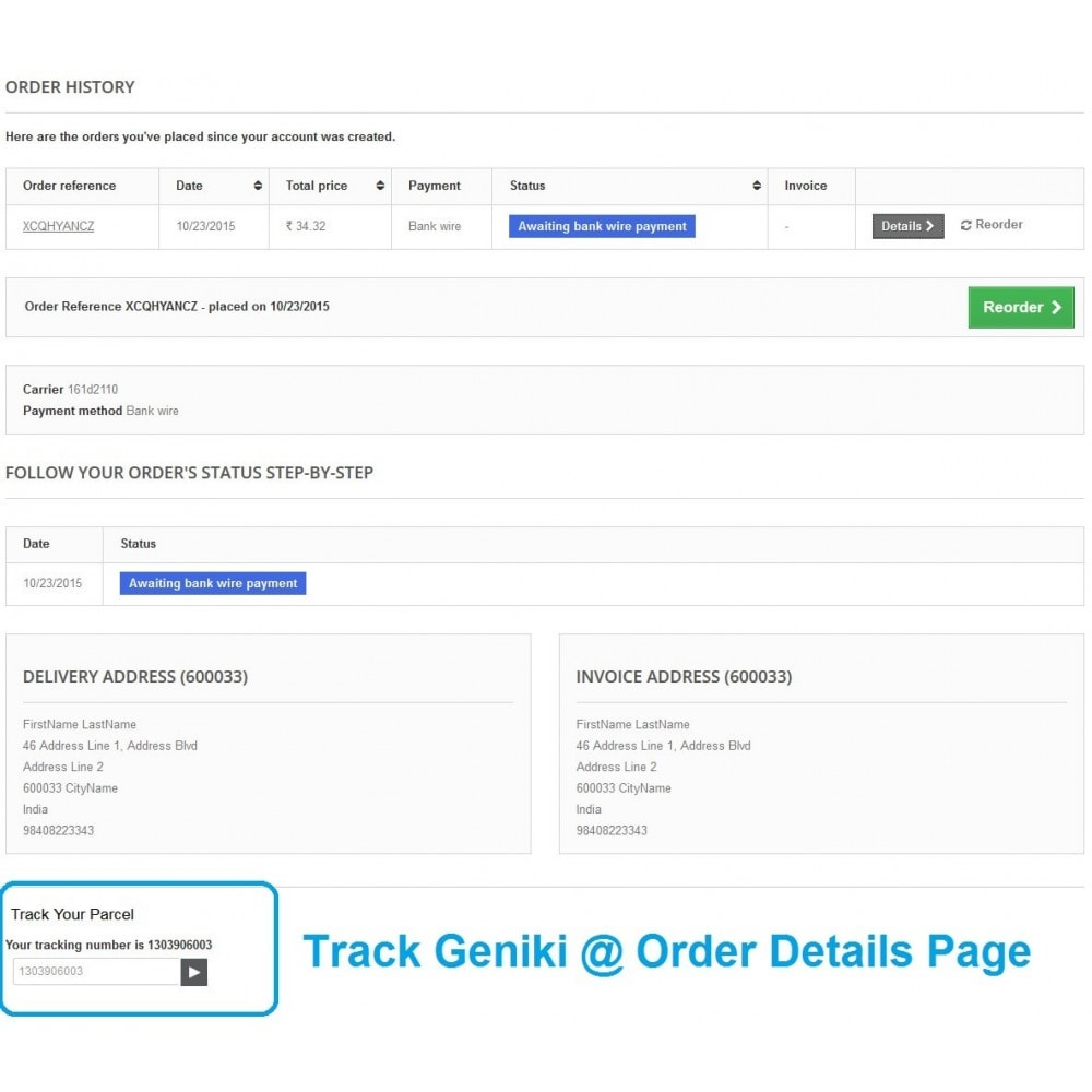 module - Подготовка и отправка - Track Geniki Taxydromiki. Create and print voucher - 3