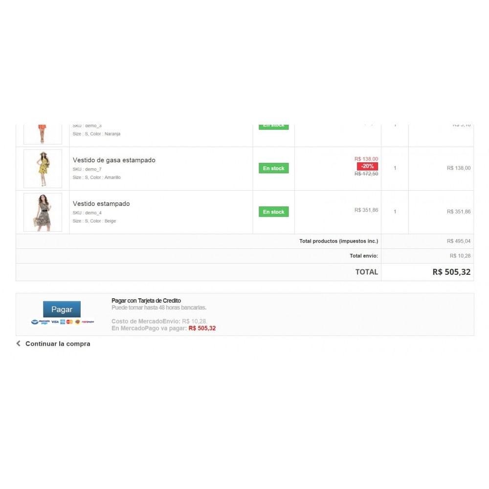 module - Pagamento por cartão ou por carteira - MercadoPago e MercadoEnvios para o Brasil - 6