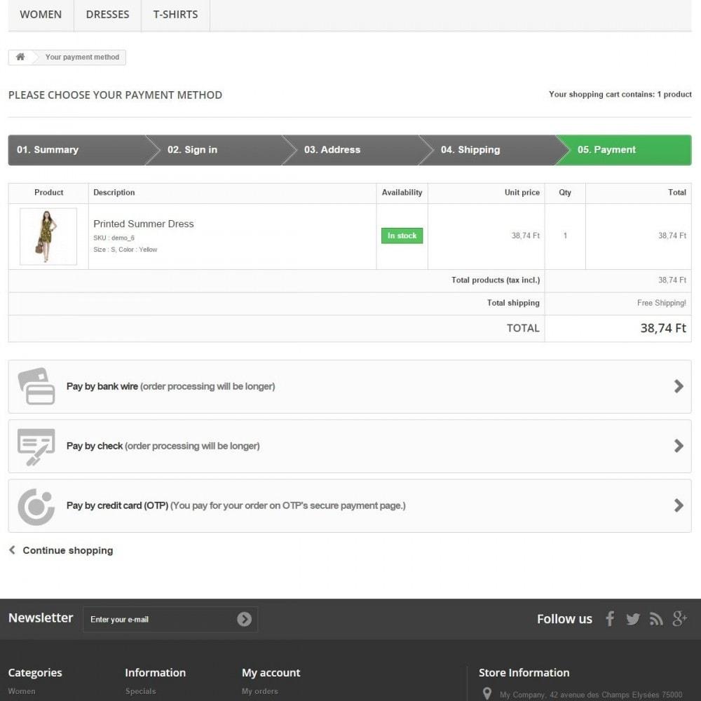 module - Zahlung per Kreditkarte oder Wallet - OTP Payment - 3