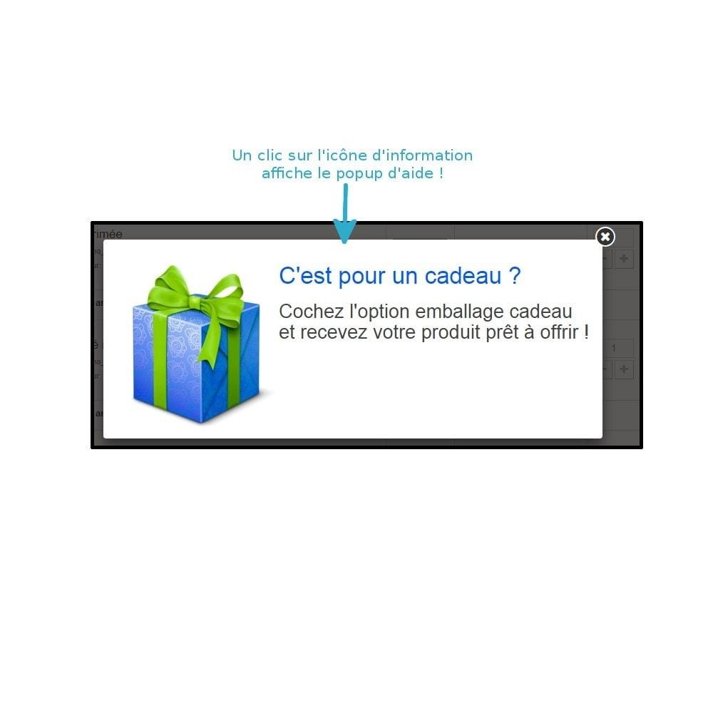 module - Inscription & Processus de commande - Emballage cadeau - 5