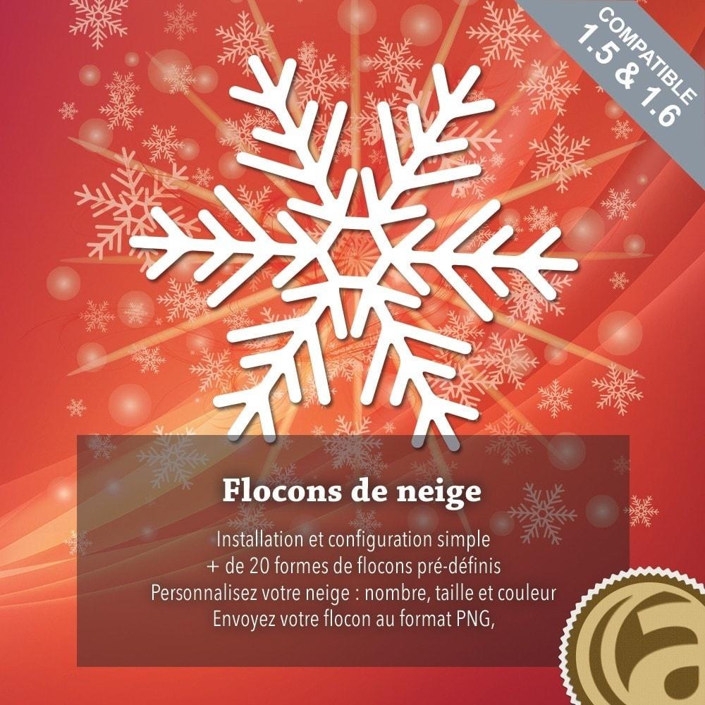 module - Personnalisation de Page - Flocons de neige - 1
