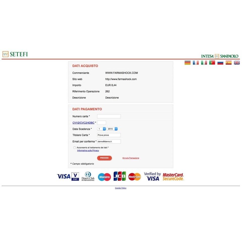 module - Pagamento con Carta di Credito o Wallet - Carte di Credito Intesa Sanpaolo Setefi Monetaweb - 1
