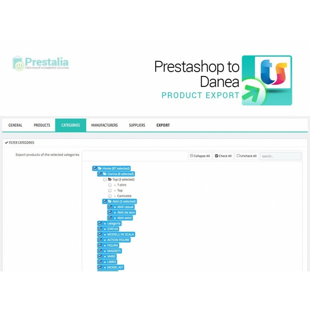 module - Импорт и Экспорт данных - Export from Prestashop to Danea - 4