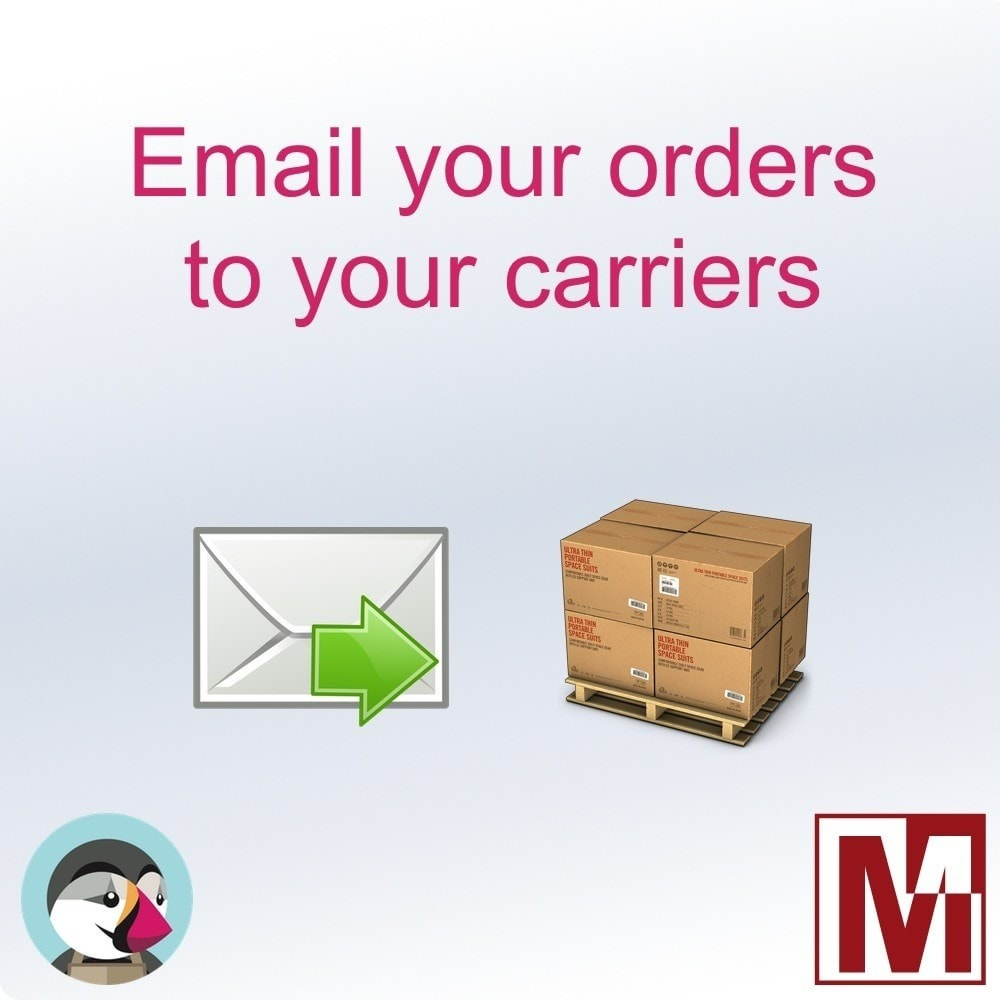 module - Подготовка и отправка - Send your orders by email to the carriers - 1