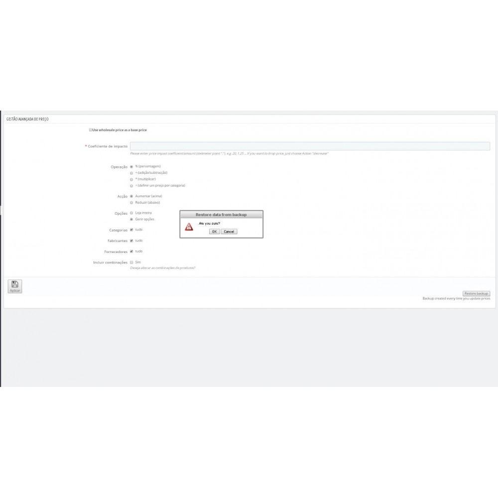 module - Edição rápida & em massa - Assistente de actualização de preços em massa - 3