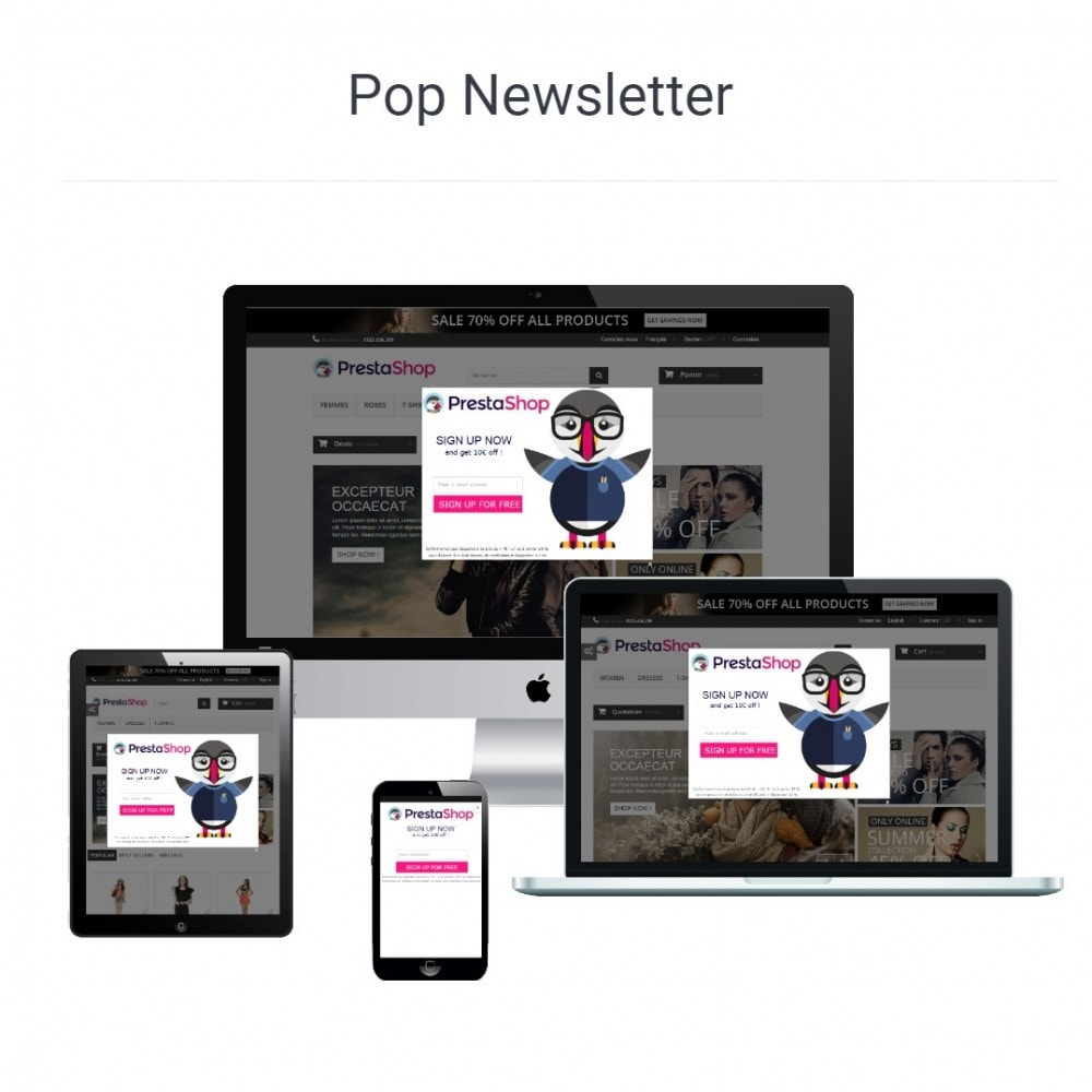 module - Dialoogvensters & Pop-ups - Popup Newsletter - 3