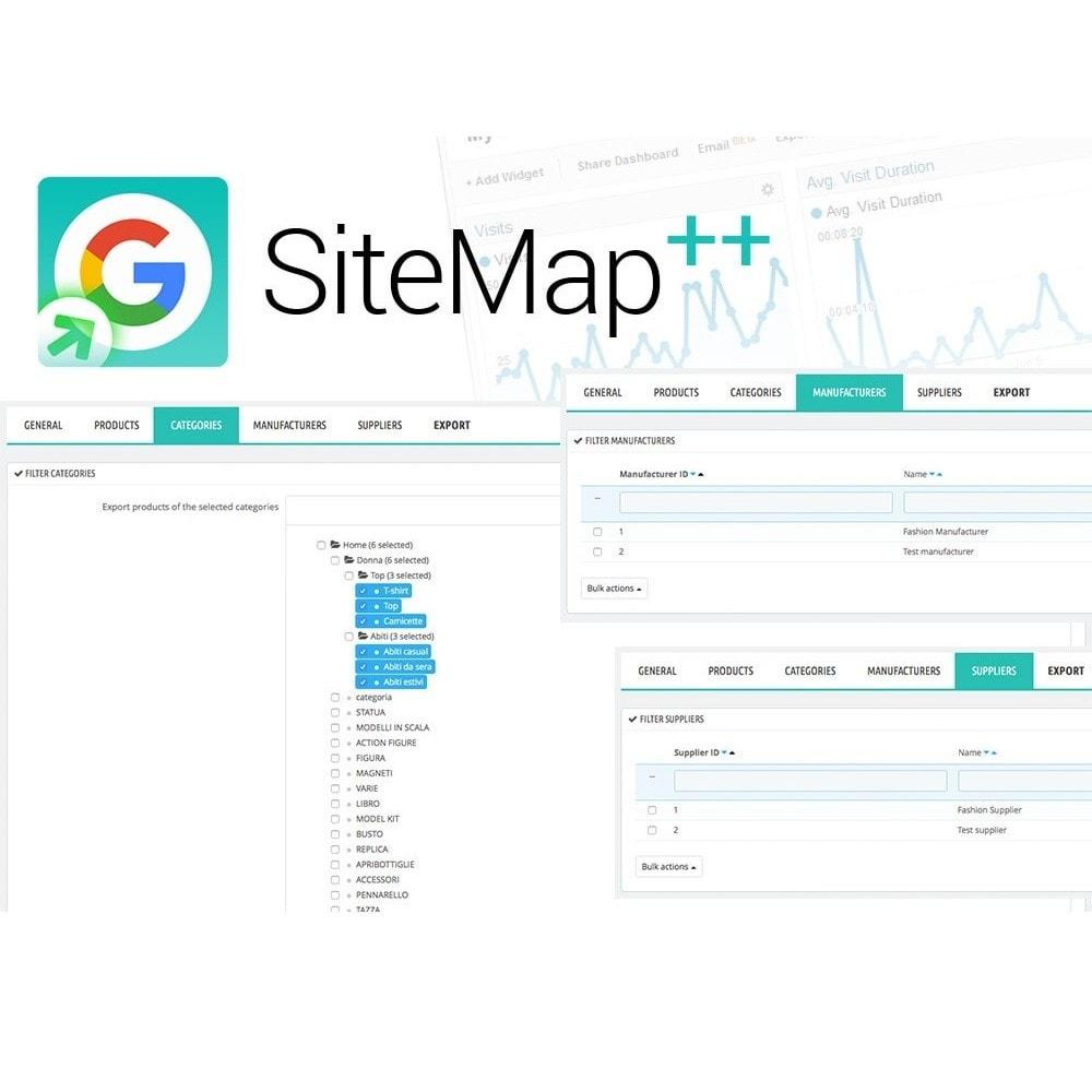 module - SEO (Indicizzazione naturale) - Sitemap Plus multi lingua con cron e filtri - 4
