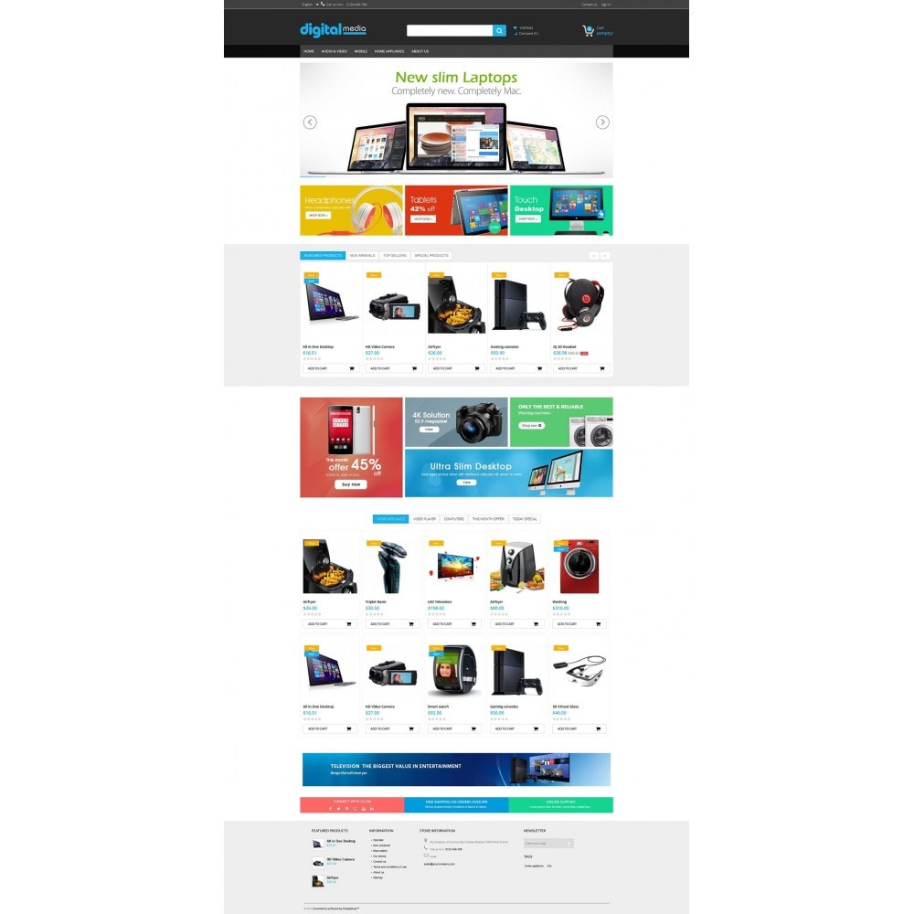 theme - Elektronica & High Tech - Digitalmedia Multi-purpose HTML5 - 3