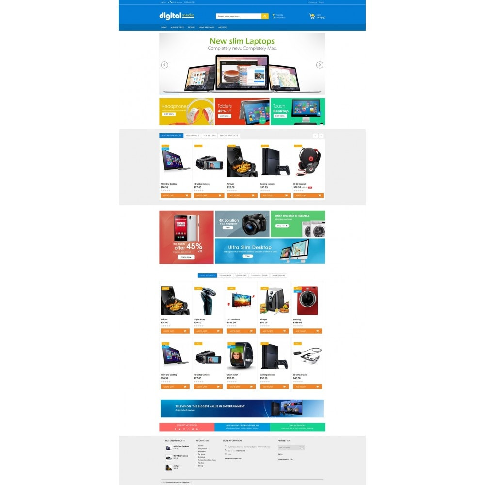 theme - Elettronica & High Tech - Digitalmedia Multi-purpose HTML5 - 5