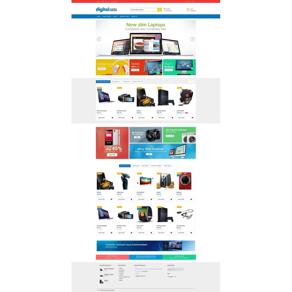 theme - Elektronica & High Tech - Digitalmedia Multi-purpose HTML5 - 6