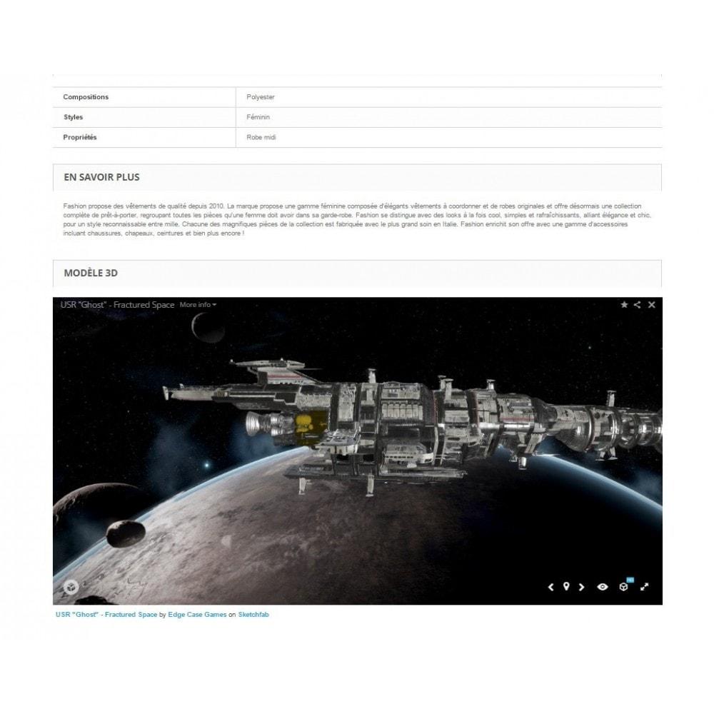 module - Visuels des produits - Sketchfab - Intégration modèle 3D - 1
