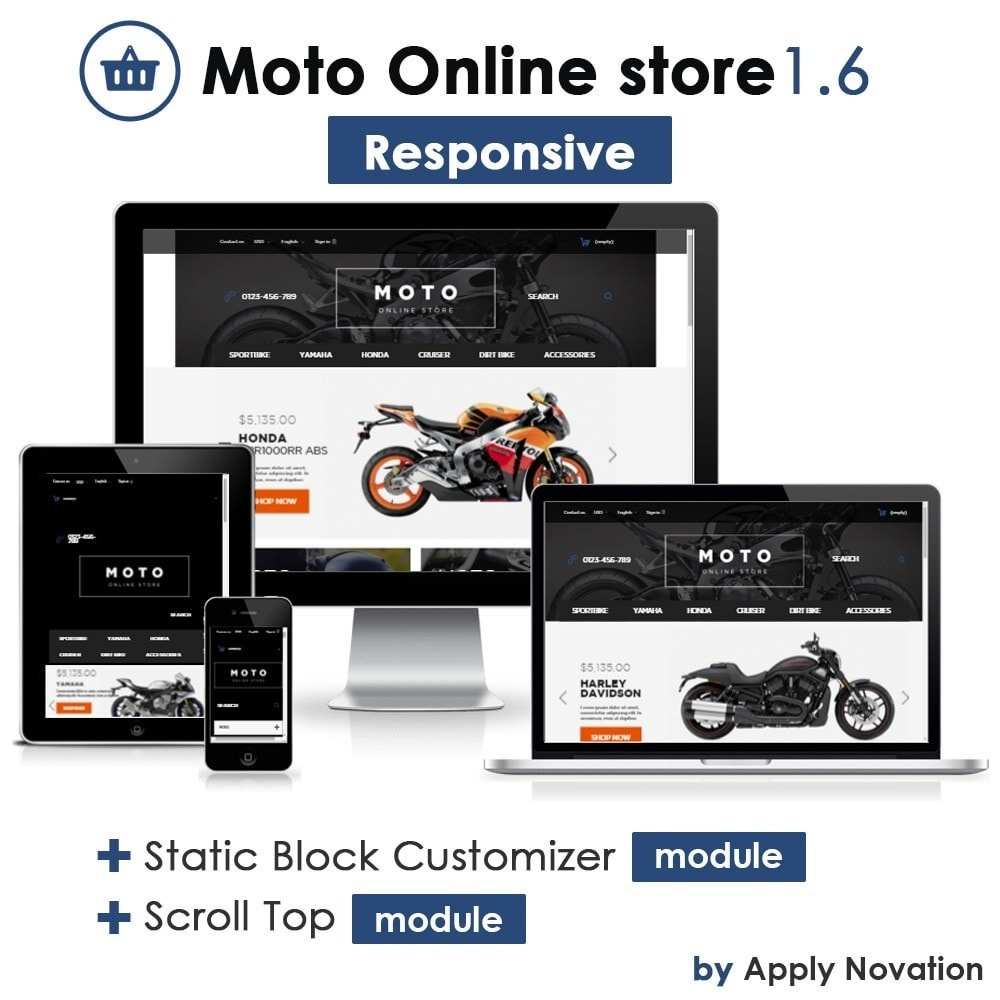 theme - Carros & Motos - Moto and Bikes Online store - 1