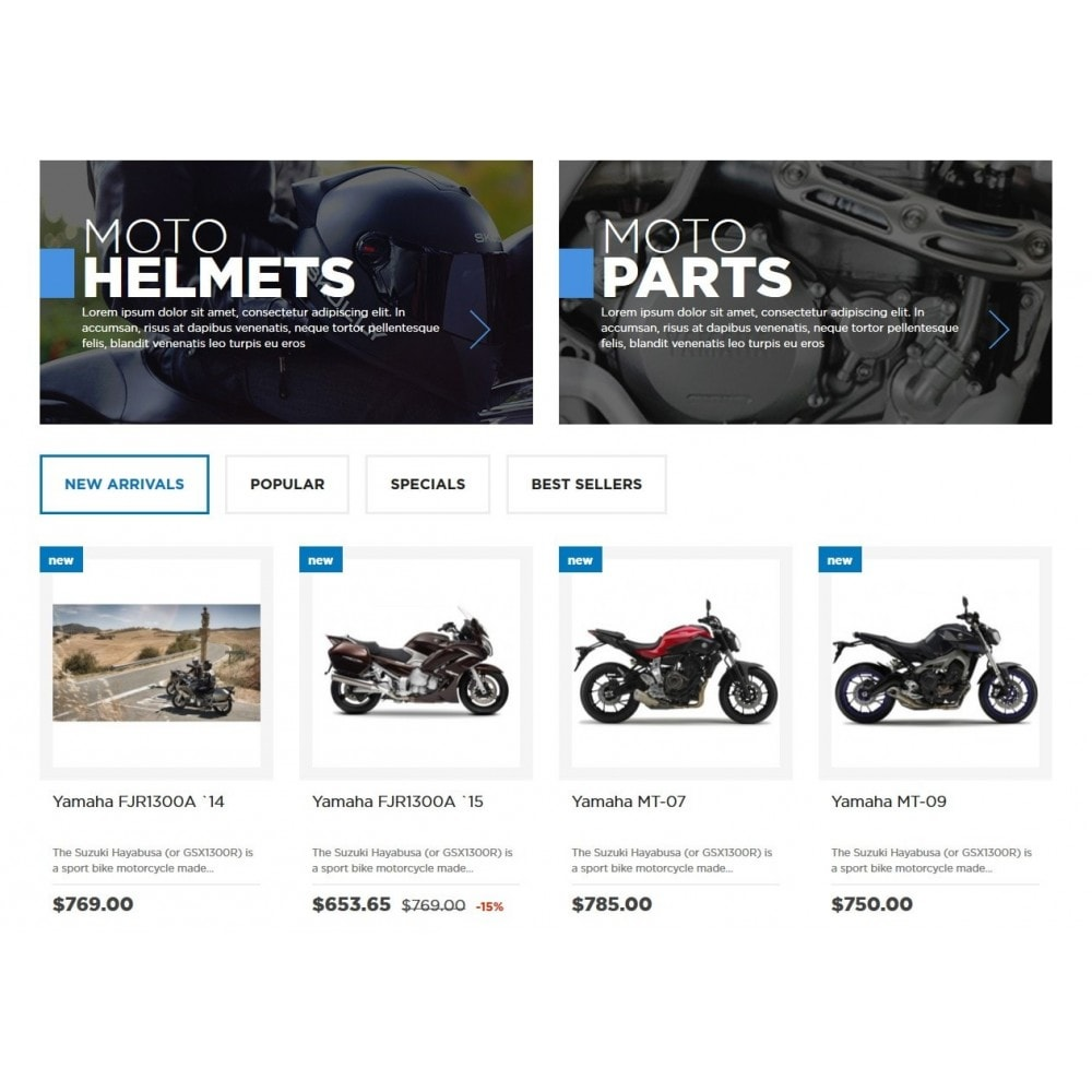 theme - Carros & Motos - Moto and Bikes Online store 1.6 Responsive - 4