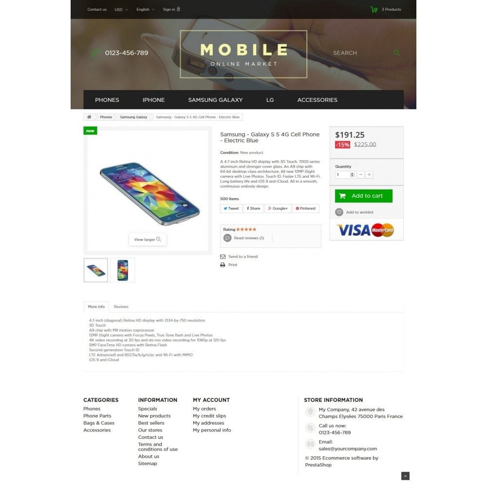 theme - Elektronika & High Tech - Mobile Online Market 1.6 Responsive - 7