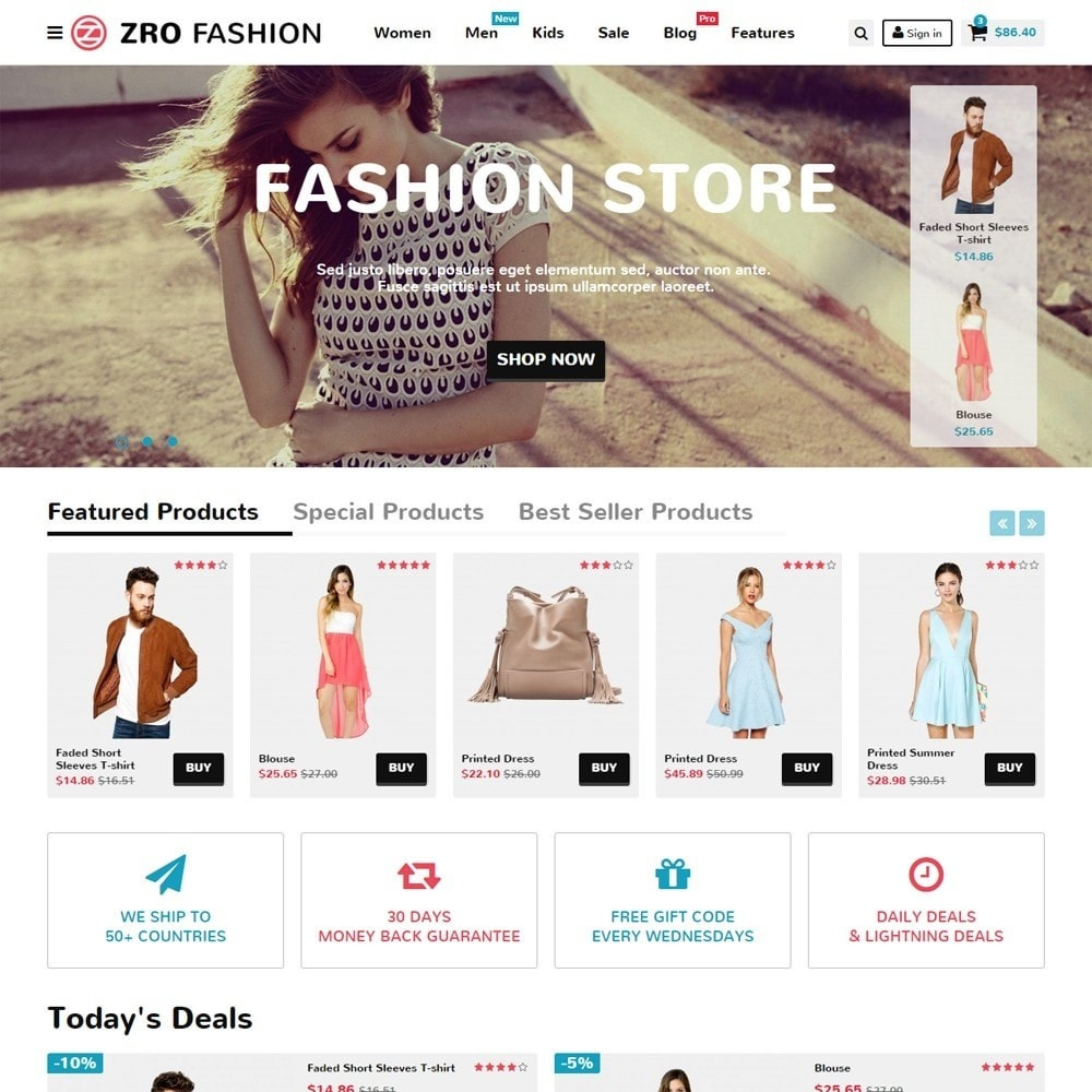 theme - Moda & Calçados - Zro02 - Fashion Responsive & Flexible - 2