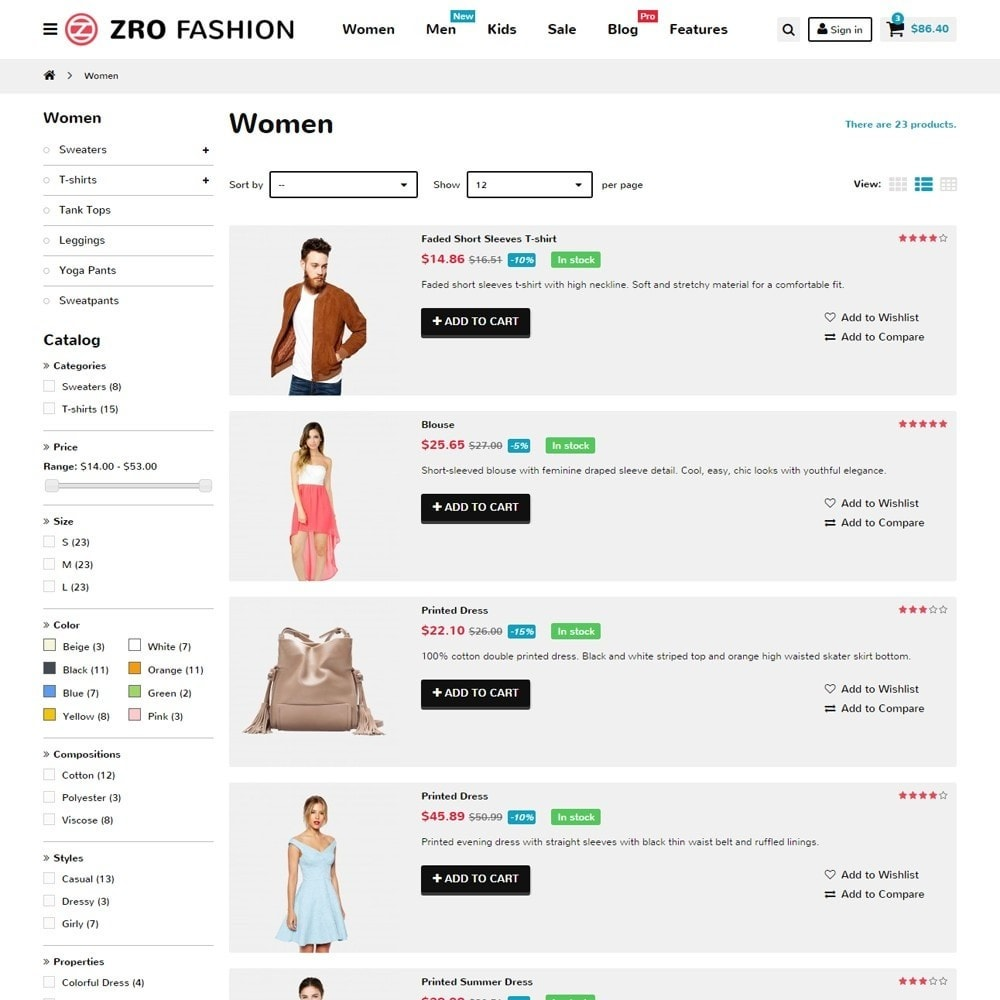 theme - Мода и обувь - Zro02 - Fashion Responsive & Flexible - 7