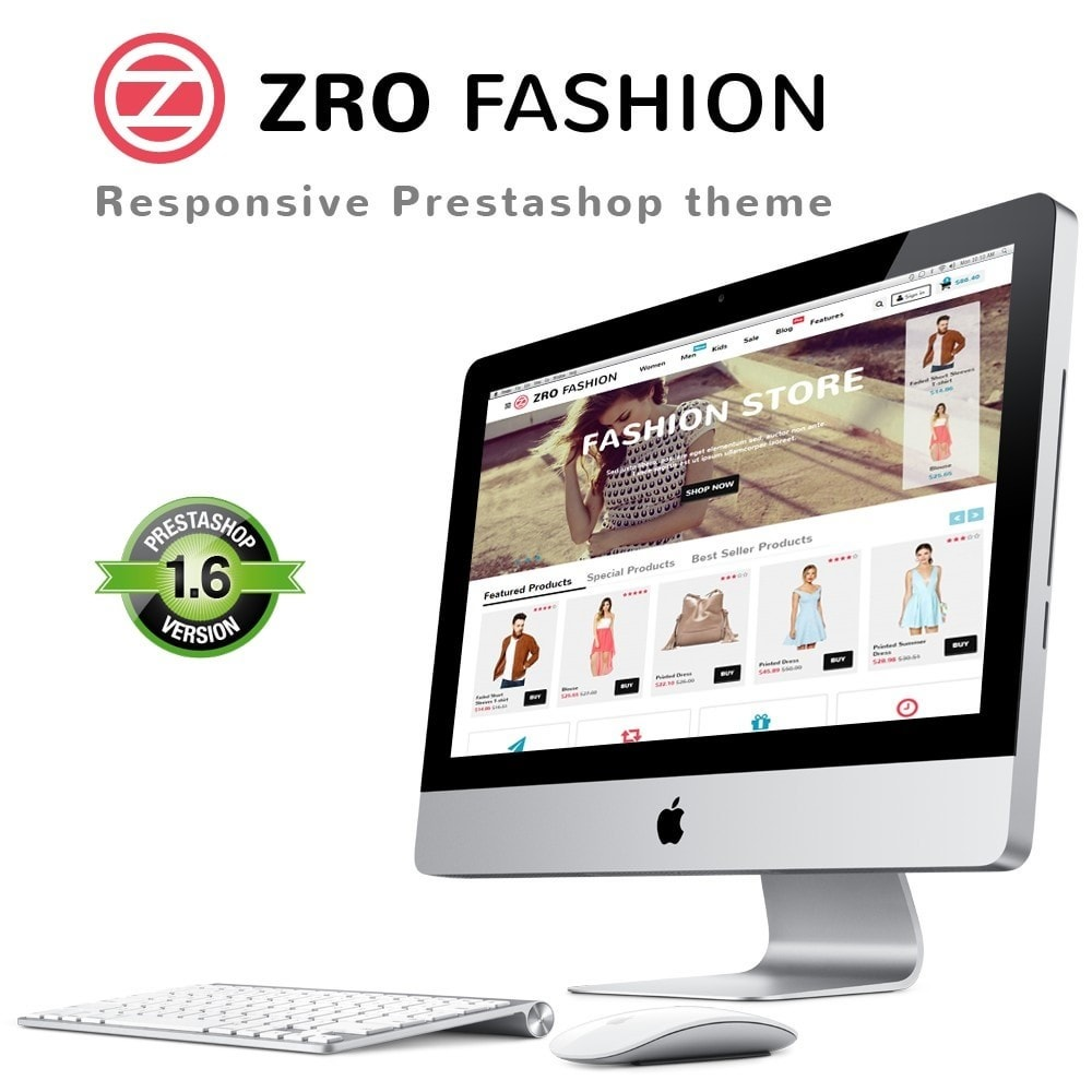 theme - Mode & Chaussures - Zro02 - Fashion Responsive & Flexible - 1