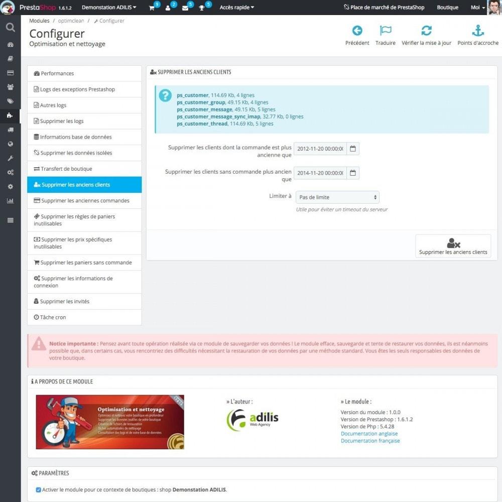 module - Performance du Site - Optimisation et nettoyage - 5