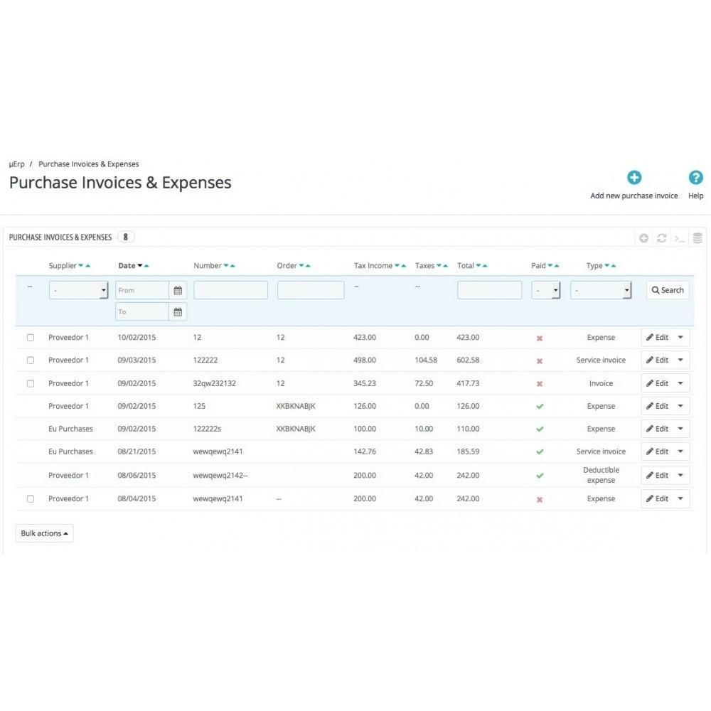module - Бухгалтерии и выставления счетов - Advanced purchases - 1