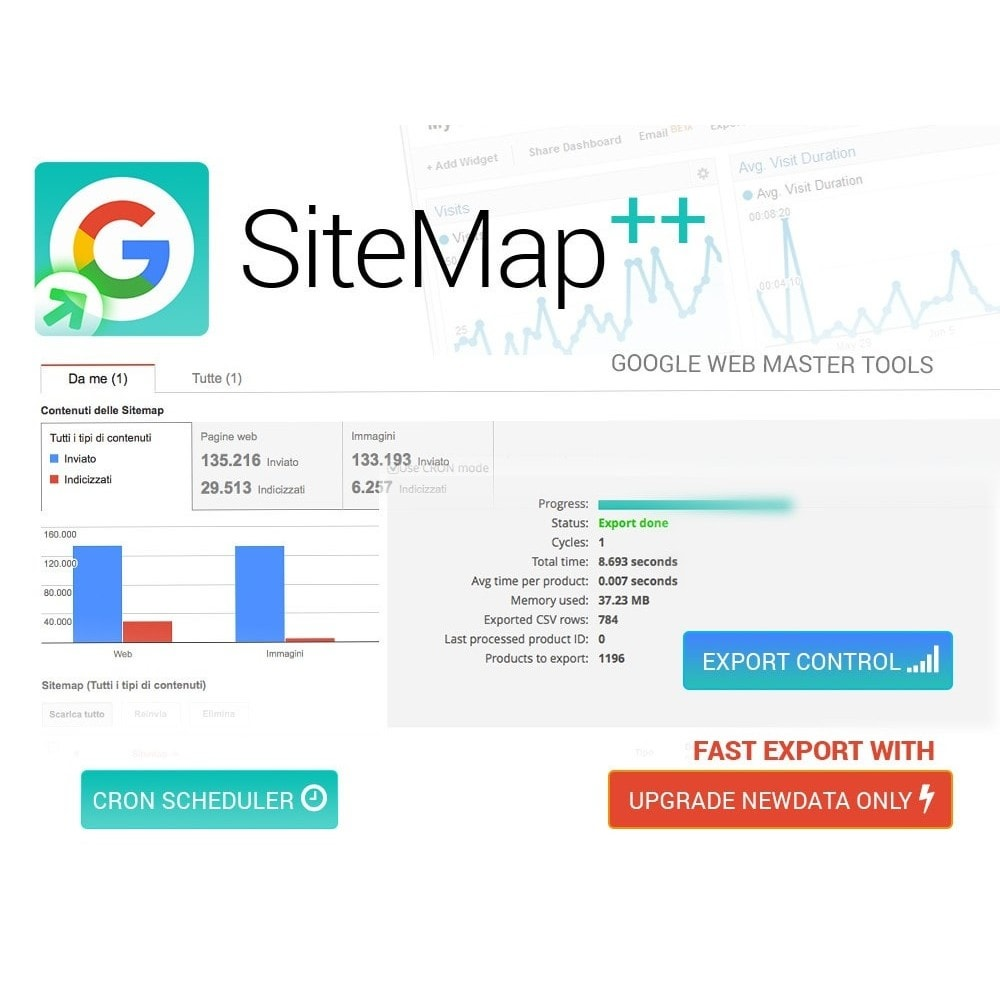 module - SEO (Zoekmachineoptimalisatie - Vermelding) - Sitemap Plus multilingual with cron and filters - 5