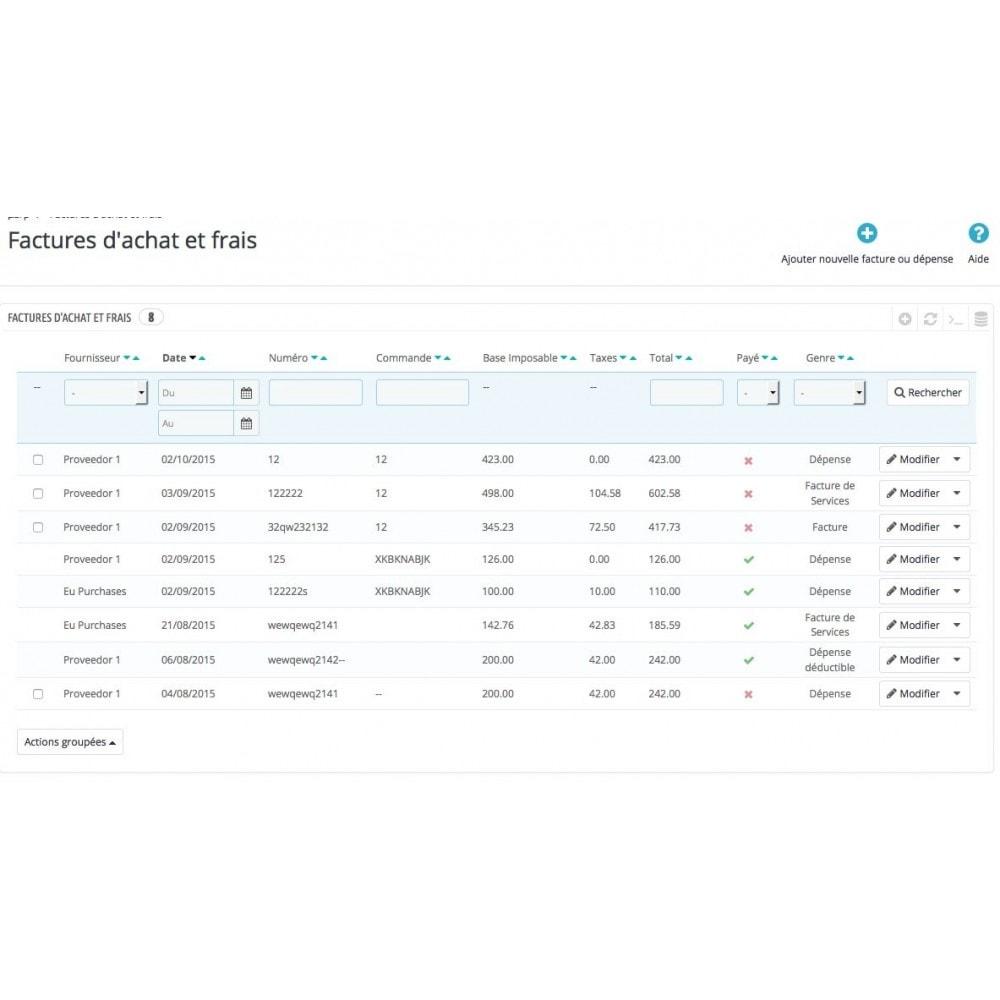 module - Comptabilité & Facturation - Achats avancées - 1